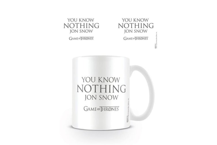 Game of Thrones You Know Nothing Mug (White) (One Size)