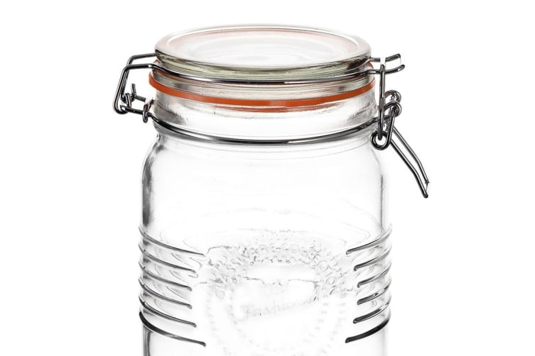 Old Fashioned Round Clip Top Jar 1L