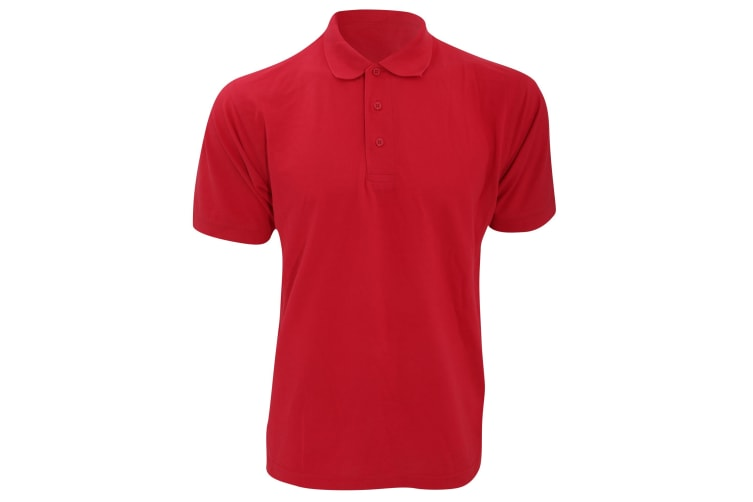 Kustom Kit Mens Klassic Superwash Short Sleeve Polo Shirt (Red) (L)