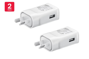 2 Pack Samsung USB Fast Charging Travel Adapter (9V)