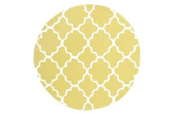 Kids Trellis Design Rug Yellow 120x120cm
