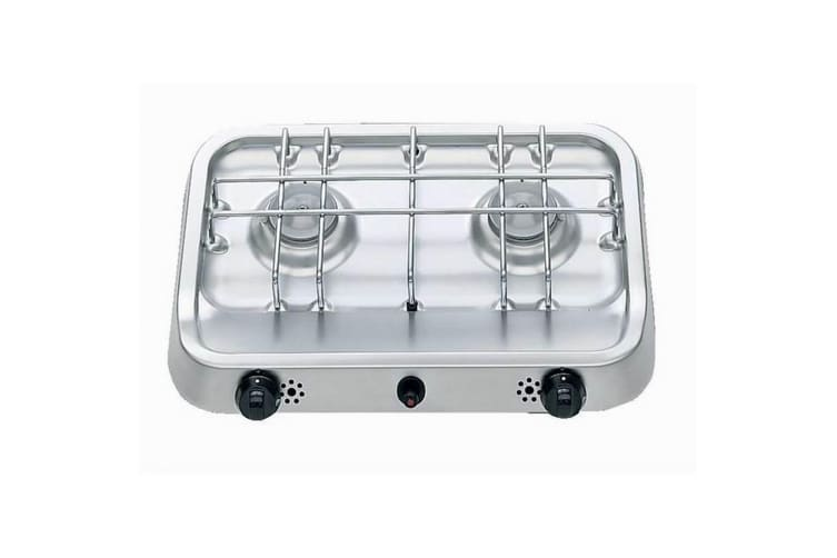 Dometic PI2212P Free Standing Double Burner Hob (Silver/Black) (One Size)