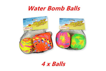 4 x Water Bomb Splash Ball Soft Throw Swimming Pool Game Event Party Outdoor Sport