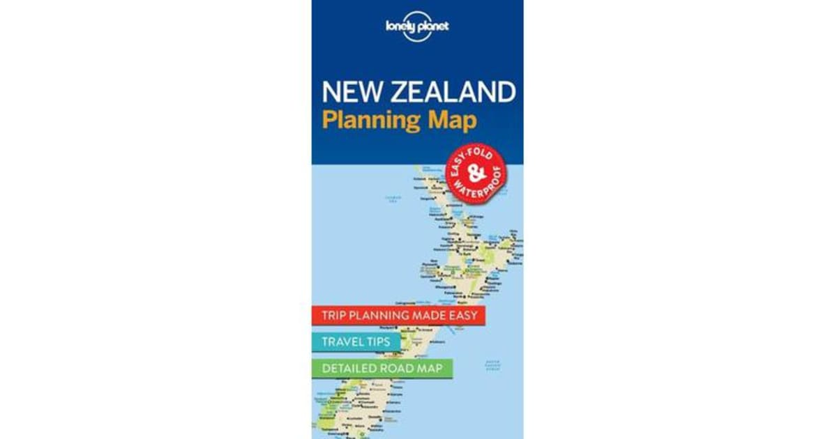 New zealand planning map by lonely planet 9781786579041 for Childrens gardening tools new zealand
