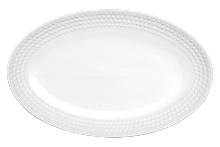 Ladelle Abode Textured Oblong Platter White 30.2x18.9cm
