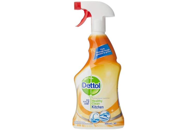 3x Dettol 500ml Healthy Clean Kitchen Multipurpose Spray Cleaner Home Cleaning