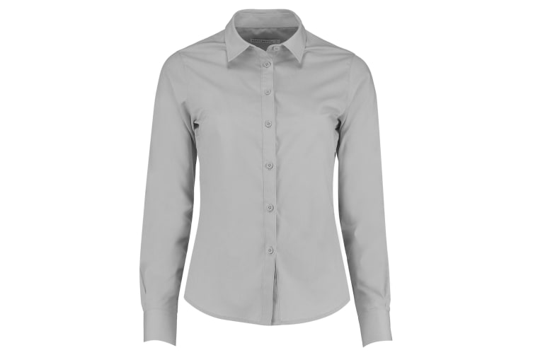Kustom Kit Womens/Ladies Long Sleeve Poplin Shirt (Light Grey) (12)