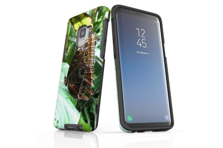 For Samsung Galaxy S9 Case Armour Cover  Butterfly Leaf