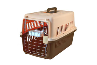 Pet Dog Cat Carrier Portable Tote Crate Kennel Travel Carry Bag Airline Approved  -  BrownS