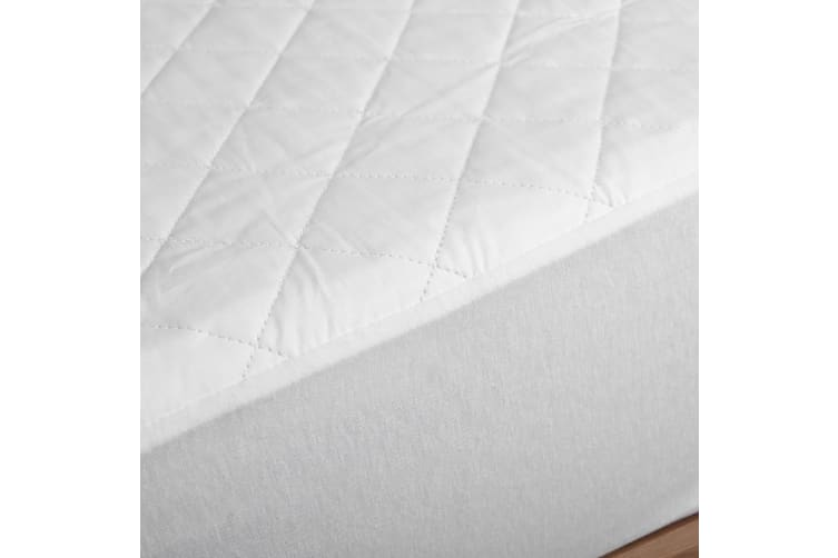 Dreamaker Cotton Quilted Waterproof Mattress Protector King Single Bed