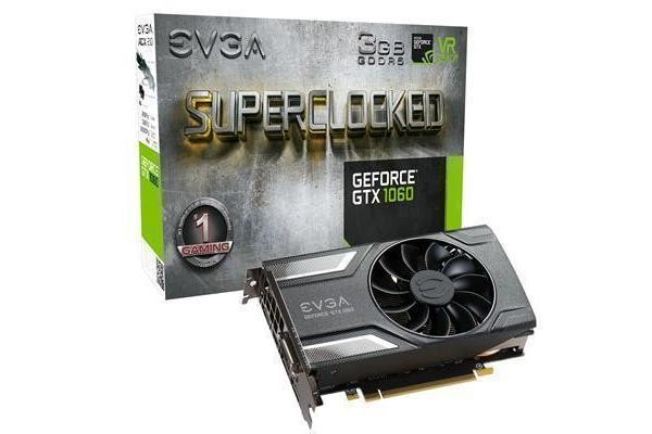 EVGA GeForce GTX1060 Graphics Card 3GB GDDR5 OC Version