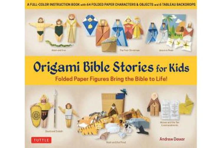 Origami Bible Stories for Kids Kit: Everything you need is in this box! - Paper Figures and 9 Stories Bring the Bible to Life!