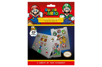 Super Mario Tech Stickers (Multicoloured)