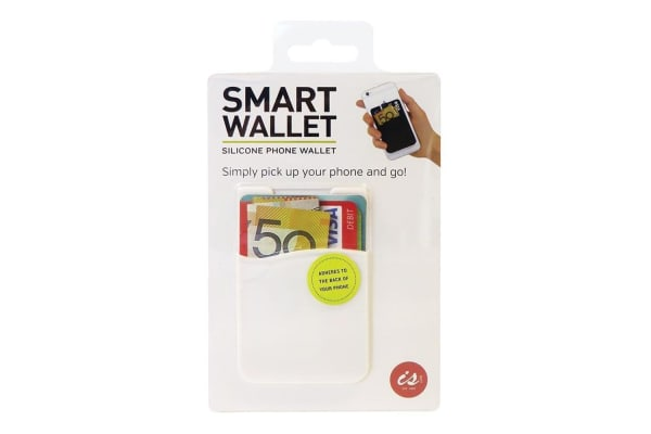 8a782f9ef14 Adhesive Silicone Smart Phone Wallet - White