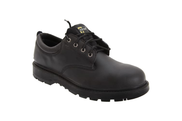 Grafters Mens Contractor 4 Eye Safety Shoes (Black) (4 UK)