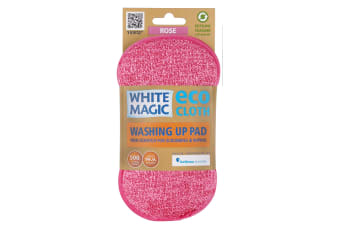 White Magic Microfibre Washing Up Pad - Rose