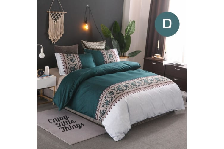 Double Size Bohemian Jade Quilt/Doona Cover Set