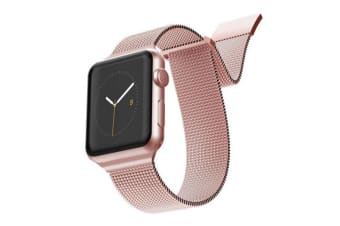 X-Doria Stainless Steel Mesh Wrist Band Strap For 44mm-42mm Apple iWatch RSGD
