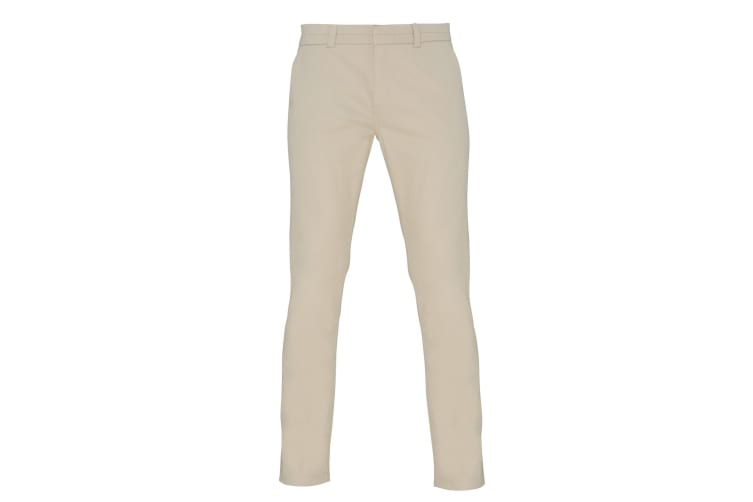 Asquith & Fox Womens/Ladies Casual Chino Trousers (Natural) (XL)