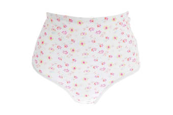 Passionelle Womens/Ladies Floral Tunnel Elastic Cotton Briefs (Pack Of 3) (White/Floral)