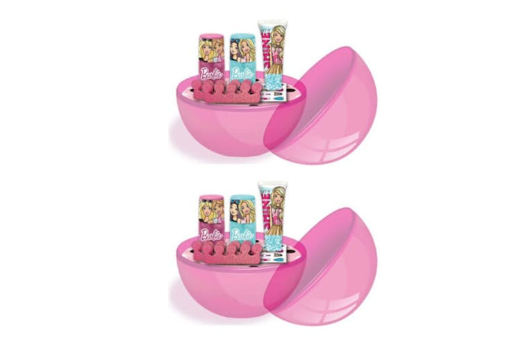 2PK Barbie Girls Party Surprise Ball Mystery Make-up Cosmetic Kit/Set Assorted