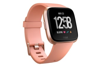 Fitbit Versa Smart Watch - Peach Rose Gold Aluminium
