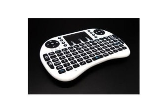 Raspberry Pi Mini Wireless Rechargeable Keyboard With Touchpad Mouse (White) Drive Free for Windows