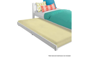 Luxo Vita Roll Out Trundle Timber Single Bed - White