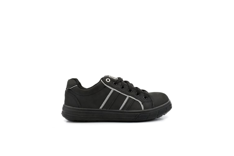 Grafters Mens Nubuck Skate Style Safety Trainer (Black) (6 UK)