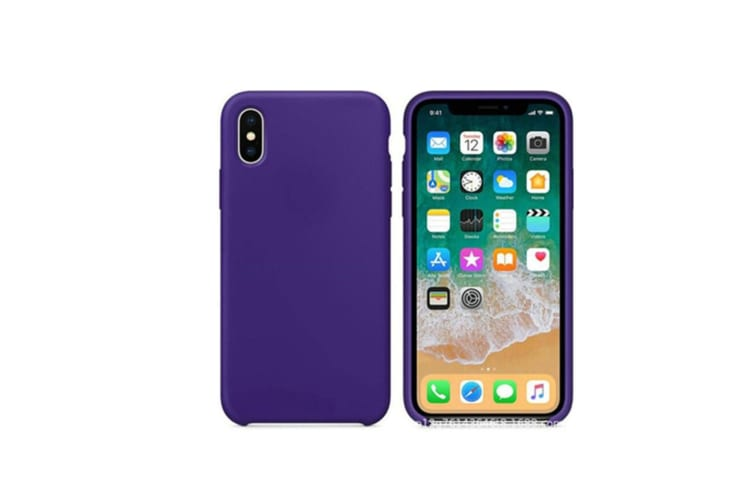 Silicone Gel Rubber Shockproof Protective Case Cover For Iphone Purple Iphonexsmax