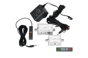 PRO2 Dual IR Emitter Infrared Repeater Extender Distribution Over COAX for TV DV