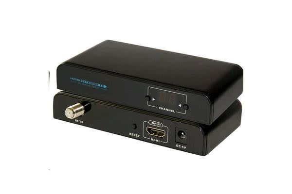 LENKENG HDMI Extender over Coaxial Cable Kit. Converts HDMI signal to HD digital TV signal based