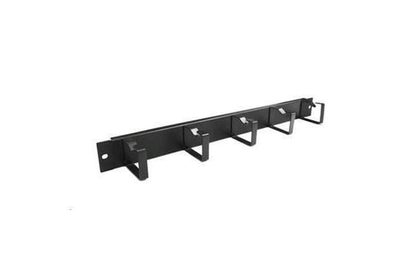 """DYNAMIX 19"""" 1RU 55mm Deep Metal Cable       Management Bar. Supplied with Cage Nuts"""
