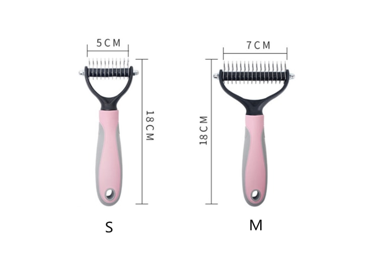 Pet Comb Stainless Steel Knot Nail Rake Comb Dog Comb  L