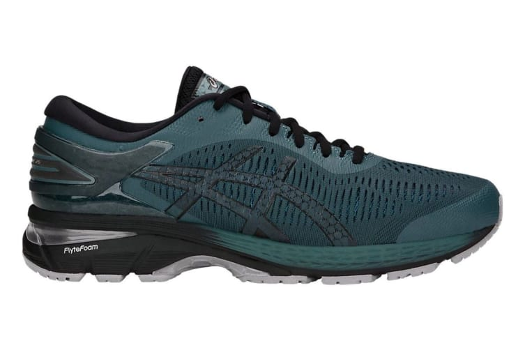 ASICS Men's Gel-Kayano 25 Running Shoe (Iron Clad/Black, Size 8)