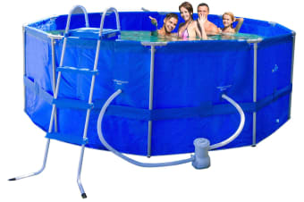 Above Ground Round Frame Pool With Ladder/Filer 457x457x122cm