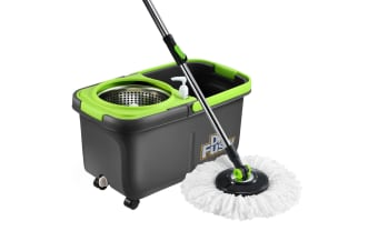 Stainless Steel Microfiber 360 Spin Mop 10L