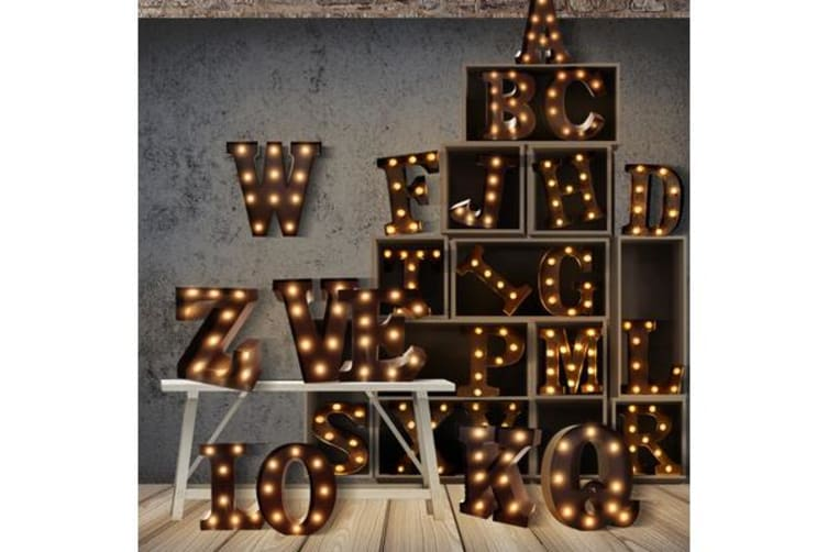 Alphabet LED Letter Lights J