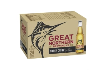 Great Northern Beer Super Crisp Lager 24 x 330mL Bottles