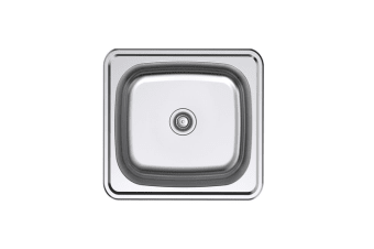 Argent Format Laundry Tub 30L with 2 Tap Holes - Stainless Steel KS4035102