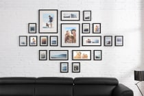 20 Piece Wall Photo Frame Set (Black)
