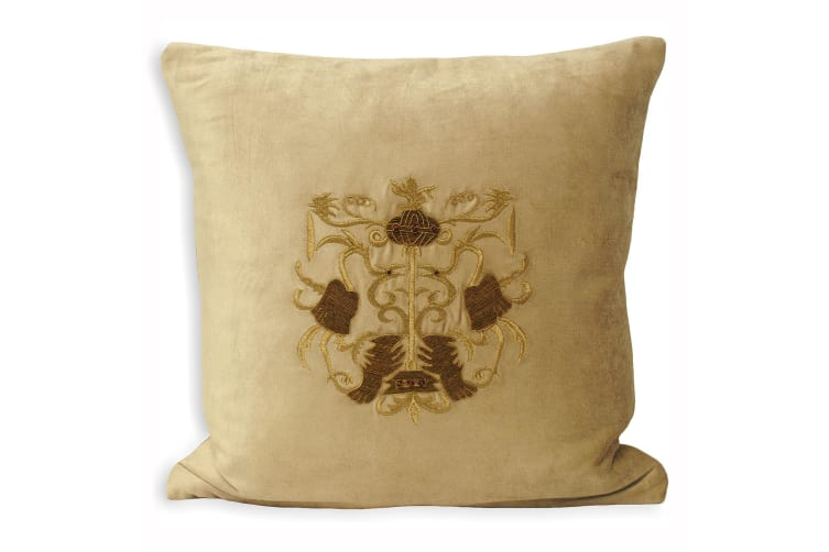 Riva Home Castle Bolsover Cushion Cover (Taupe) (45x45cm)