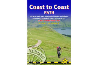 Coast to Coast Path - 109 Large-Scale Walking Maps & Guides to 33 Towns and Villages -Planning, Places to Stay, Places to Eat - St Bees to Robin Hood's Bay
