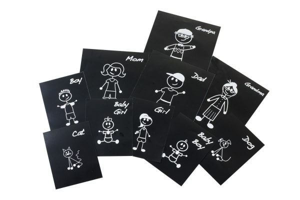 10 Pack Family Car Sticker Decals