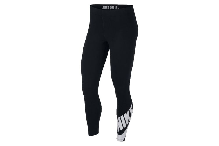 a86e392cd69582 Nike Sportswear Leg-A-See 7/8 Women's Leggings (Black, Size XS) - Kogan.com
