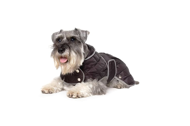 Ancol Pet Products Muddy Paws Diamond Quilted Dog Coat (Black) (Large)