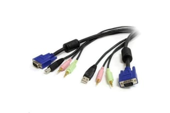 StarTech USBVGA4N1A10 3m 4-in-1 USB VGA KVM Cable w/ Audio