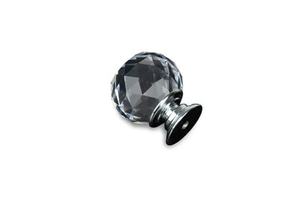 10Packs 30mm Round Clear Crystal Glass Door Pull