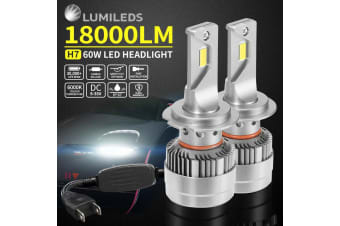 LIGHTFOX 2x Philips H7 18000Lm Led Headlight Kit High Power Vehicle Car Replace Halogen