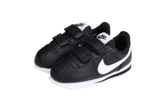 Nike Boys' Cortez Basic SL Shoes (Black/White)